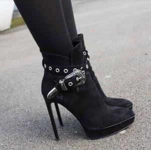 Authentic Saint Laurent Platform Janis Ankle Boots